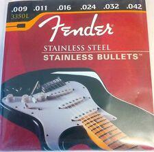 Fender Stainless Steel Bullet Electric Guitar Strings 009-042