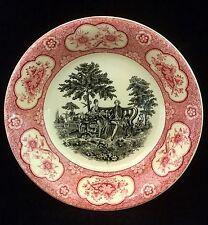 Fruit Sauce Bowl ADAMS England Rose Terrace 2 Color Transferware Romantic Scene
