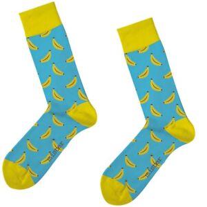 BANANA SOCKS Herren Freizeitsocken One Size 42-47 Motiv Socken Banane Strümpfe