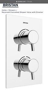Bristan PM2 SHCDIV C Prism Recessed Thermostatic Dual Control Shower Valve
