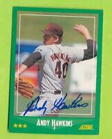 1988 Score In Person Auto -  Andy Hawkins (#347)   San Diego Padres