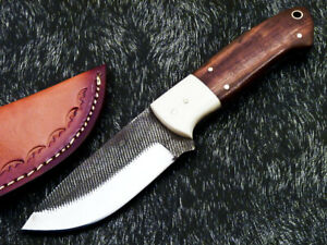 Stunning Handmade HIGH Carbon Real File Steel Fixed Blade Hunting Knife WD-5874