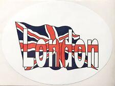 London on the Union Jack Oval External Car Bumper Sticker Decal