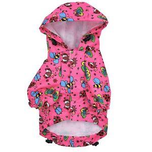 For SMALL Pet Cat Dog RainCoat Hoodie Coat WATERPROOF Rain Jacket Rainwear XXS-L