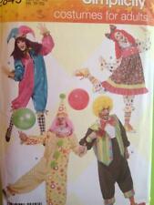 Simplicity Sewing Pattern 2849 Adult Misses Clown Costumes Size XS-XL Uncut