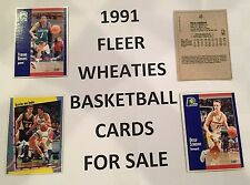 1991 Fleer Wheaties Basketball cards for sale - You pick!!