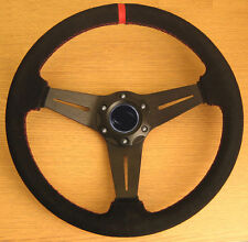 Suede Leathe Rally Sports Steering Wheel 350mm