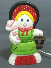 """Vintage Nowell's Lighted Caroler Painted Christmas Mold 1988 Figure Holiday 7.5"""""""