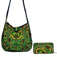 Medium Embroidered Hmong Summer Tote Bag and accordion Wallet Thailand Wholesale