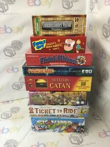 BUNDLE OF POPULAR FAMILY ADULT CHILDREN BOARD GAMES PANDEMIC CATAN TICKET RIDE++