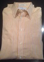 AUTHENTIC BURBERRY of LONDON MENS DRESS SHIRT 15 1/2-34 Stripped OXFORD