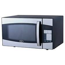 Oster 0.9 Cu. Ft. 900 Watt Digital Microwave Oven - Black & Stainless Steel O...