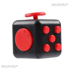 Fidget Cube Black-Red Anxiety Attention Stress Relief Toys For Adults & Kids