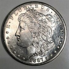 1887-S Morgan Silver Dollar Beautiful Uncirculated Coin Rare Date