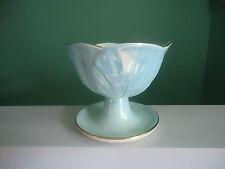 vintage maling footed lustre ware sweet dessert sunday bowl