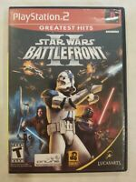 CIB Playstation 2 Greatest Hits Star Wars Battlefront II Lucasarts - Tested PS2