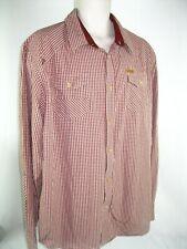Akoo Braveheart iron&Steel 2X L.S Shirt 100% Cotton Orange/Creme Plaid