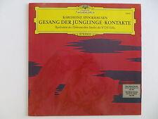 STOCKHAUSEN GESANG DER JUNGLINGE / KONTAKTE DGG LP AVANT GARDE