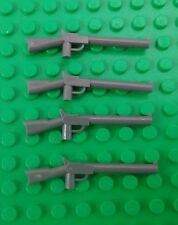 *NEW* Lego Dark Grey Guns Rifles Old Western Minifigs Figures Figs - 4 pieces