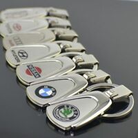 Embossed Stainless Steel Car Key Ring Keyring Chain  Great Fit for Skoda