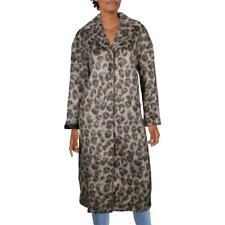 Kate Spade женские искусственного меха леопардовый принт длинное пальто верхняя одежда bhfo 0463