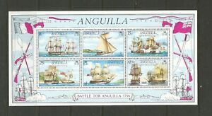 Anguilla 1976 Bicentenary of Battle of Anguilla Mounted Mint Mini Sheet SG MS261