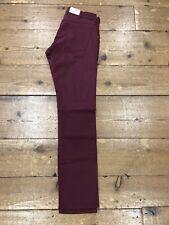 Wrangler Larston Slim Stretch Chino Jeans/cordovan Red - 34/32 Ss18