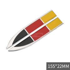 2x Germany DE Flag Chrome Car Auto Emblem Badge Sticker Decal For Audi