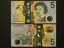 AUSTRALIA  $5  QEII SUPERB POLYMER - EXCELLENT 2016 ISSUE NOTES IN MINT GEM UNC