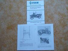 Manuale di istruzioni Istruzioni MZ superelastik sidecar MZ ETZ 250 alleanza