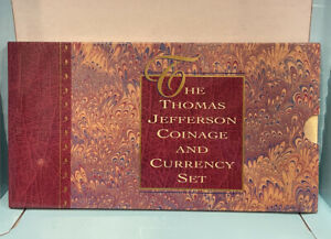 1993 Thomas Jefferson Coinage and Currency Set Original Government Package & COA