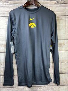 NEW Nike IOWA HAWKEYES Mens ON FIELD Long Sleeve Dri-Fit Shirt Iowa Football
