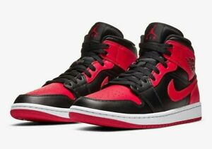 Air JORDAN 1 Mid 'Banned' Size US 10.  BRAND NEW IN BOX.
