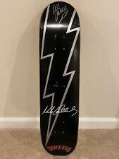 Nos Vallely Skateboards Mike V Lightning Bolt signed skateboard deck Vintag 2002