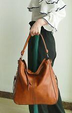 Large Hobo Handbags Leather Purse Shoulder Vintage Bucket Bag Brown CAMEL NEW