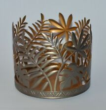 BATH & BODY WORKS PALM LEAVES MONSTERA METAL LARGE 3 WICK CANDLE HOLDER 14.5 OZ