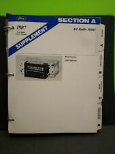 1987 Ford Radio Service Manual Binder