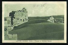 TRIPOLI - LEPTIS MAGNA - HOMS - Palazzo di Settimio Severo - VG 1926