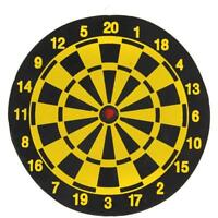 NEW FULL SIZE 10 INCH DART BOARD FOR ADULTS OR KIDS DOUBLE SIDED GAME HOT SELL^