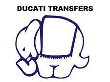 Ducati Elephant Transfer Decal Size 94x80mm DD507 Blue