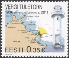 Estonia 2011 Lighthouse/Maritime Safety/Buildings/Architecture/Maps 1v (ee1207)