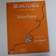 """piano solo BEWITCHED """"bothered and bewildered"""" Richard Rodgers, Jan August"""