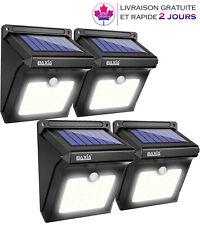 4 Lampes,Eclairage Solaire Sans Fil Lumière Imperméable avec Détecteur Mouvement