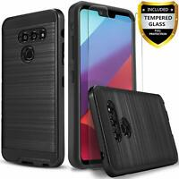 LG G8 ThinQ Case, with [Tempered Glass Screen Protector Included]