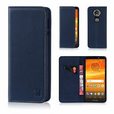 32nd Classic Series - Real Leather Book Wallet Flip Case Cover for Motorola Moto