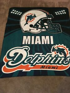 Miami Dolphins Fleece Throw Blanket - 50 x 60
