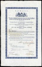 Tasmania: Government debenture, £100, 1867, cancelled