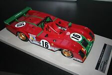 Ferrari 312PB Long Tail, second Le Mans 1973, Merzario-Pace, Tecnomodel 1/18 New