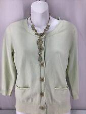 J. Jill Sz. Small Petite 3/4 Sleeve Stretch Button Up Sweater Cardigan Petite #A