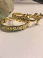 Gold Plated Lovely Children-Kid-Baby Bell Bangle Bracelet Anklet-G8